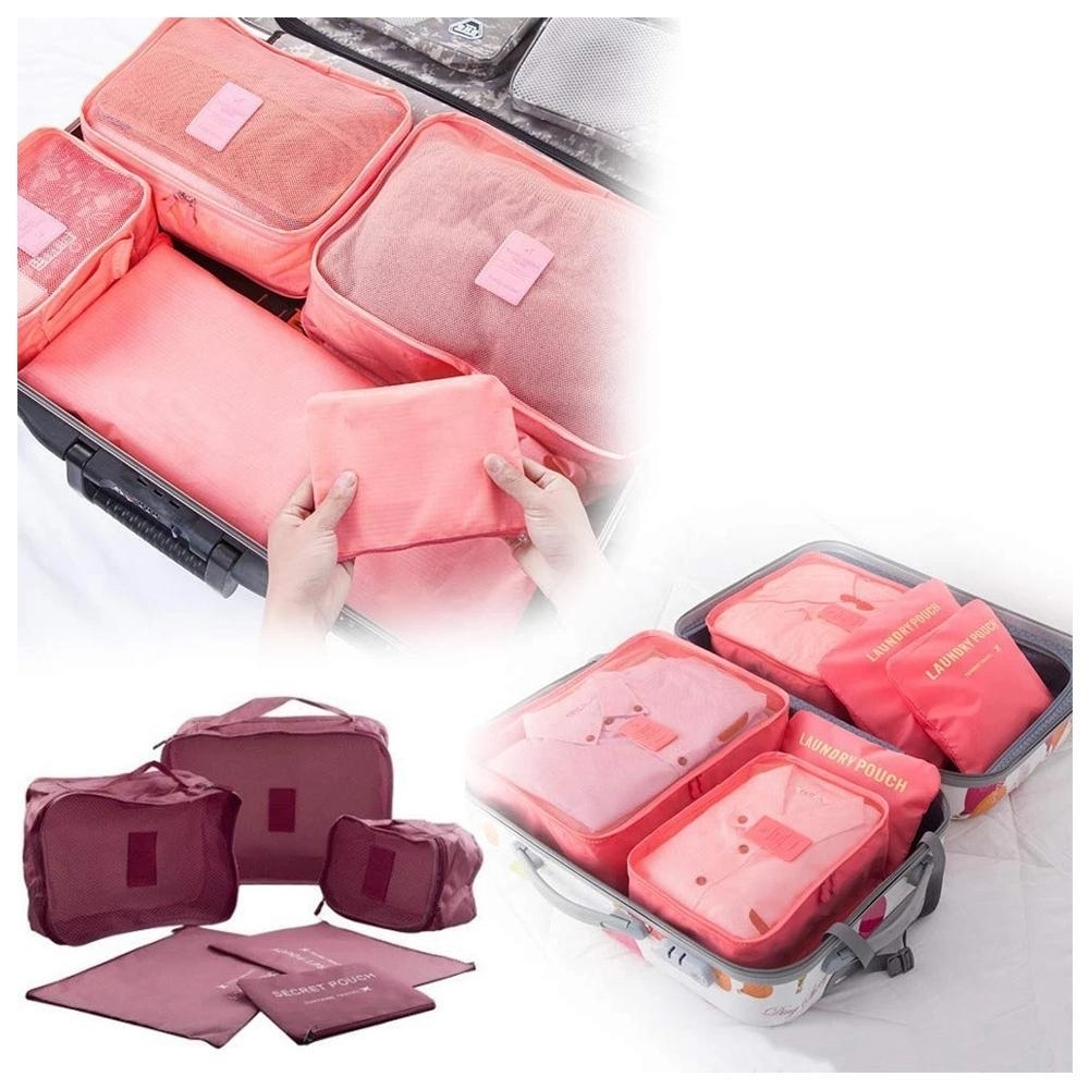 Cloth Organizer Pouch Laundry Zipper Bags 6 pcs