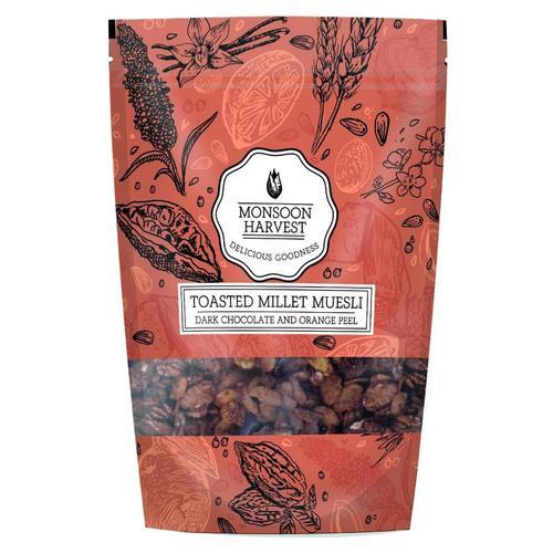 Monsoon Harvest Muesli - Dark Chocolate With Orange Peel 250 G