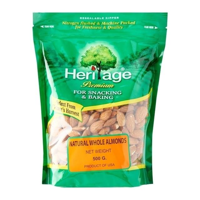 Heritage Raw Whole Almond Nut