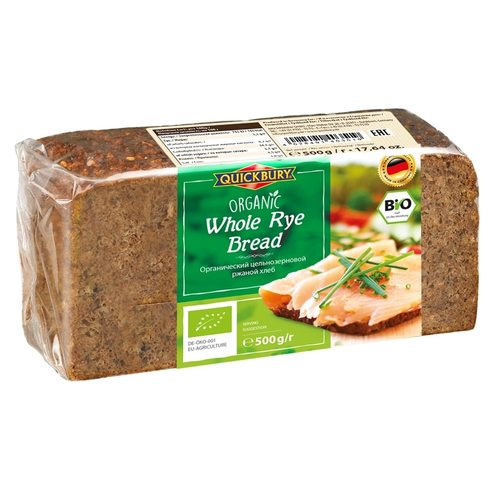 Quickbury Organic Whole Rye Bread