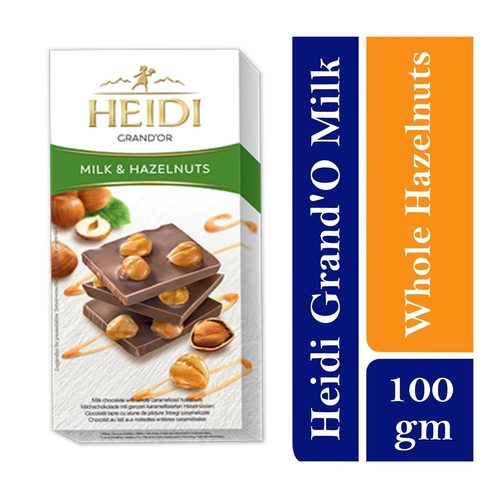 Heidi Grand Or  Milk Chocolate with whole caramelized Hazelnuts