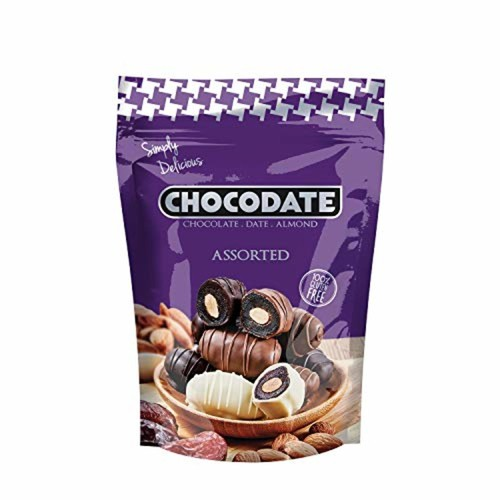 Chocodate Assortment of 3 type of Chocodates White Dark And Milk Chocodate with Almond 100GM