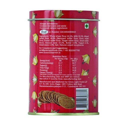 Monsoon Harvest Buttermilk & Millet Crackers Onion flavors 1 X 100G