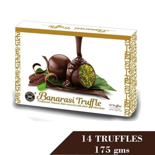 Banarasi Truffle Traditional Natural Mint Covered With Dark Chocolate Truffle 175gm