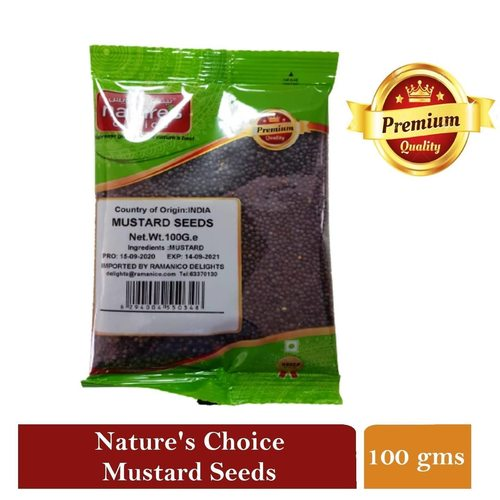 NATURES CHOICE PREMIUM QUALITY MUSTARD SEEDS 100G