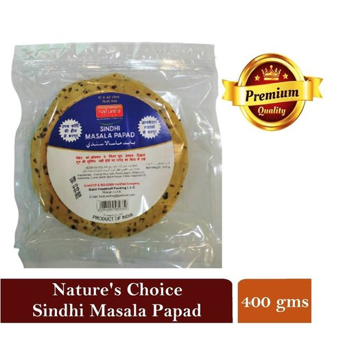 NATURES CHOICE PREMIUM QUALITY MASALA PAPAD 400G