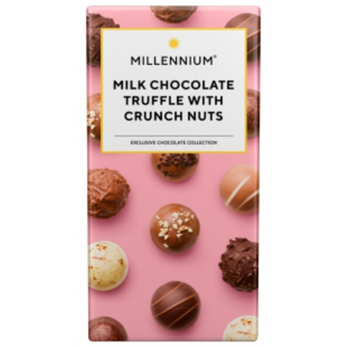 Millennium Milk Chocolate Truffle with Crunch Nuts 100gm