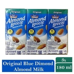 Blue Diamond Almond Breeze Almond Milk 3 x 180ml