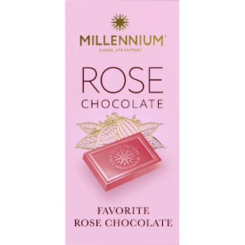 Millennium Milk Chocolate with Rose Flavor 100 G
