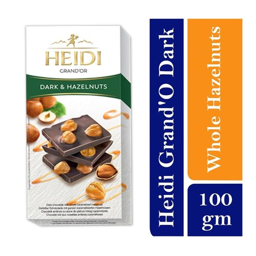 Heidi Grand Or  Dark Chocolate with whole caramelized Hazelnuts