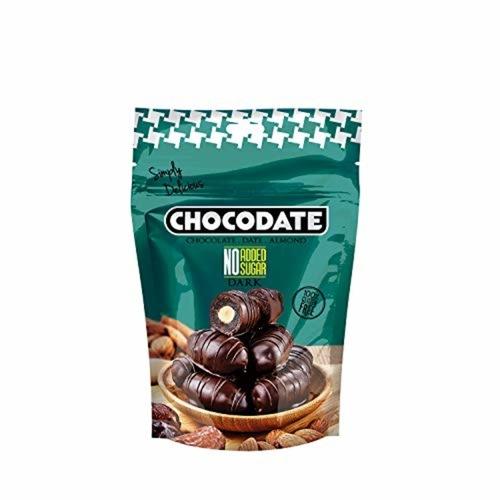 Chocodate Rich Dark Chocolate with No Artificial Sugar Added with Almond 100gm