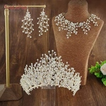 Bridal Tiara Set with Necklace and Ear Rings