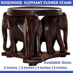 Rosewood Elephant with Flower Stand