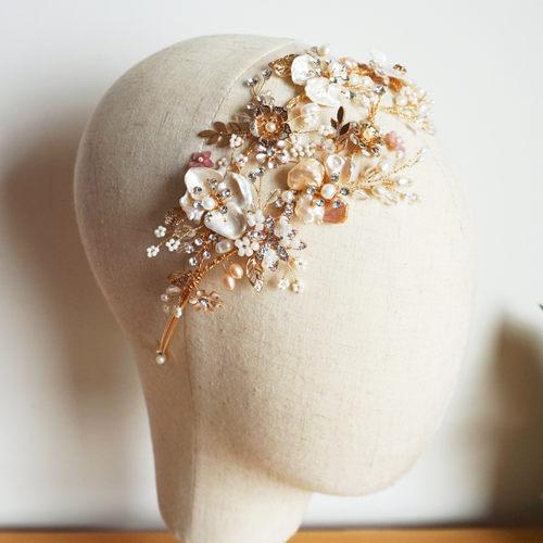 Freshwater Pearls Wedding Tiara Crystal And Rhinestone