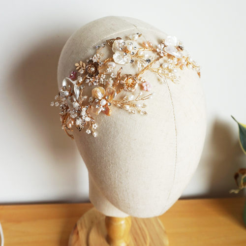 Freshwater Pearls Wedding Tiara Crystal And Rhinestone