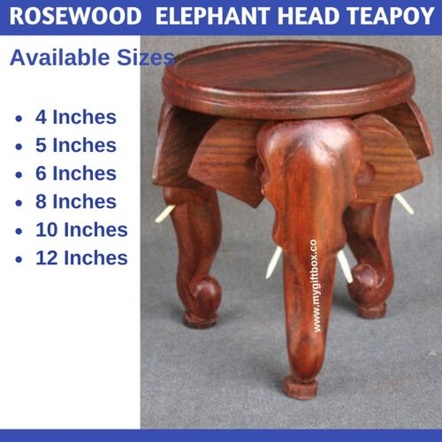 Rosewood Elephant Head Teapoy