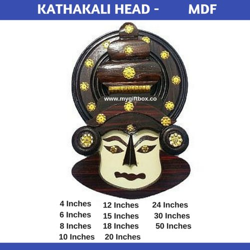 Kathakali Head - MDF Wood