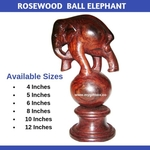 Rosewood Ball Elephant
