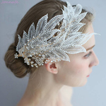 Lace Leaf Bridal Crown Hair Jewelry