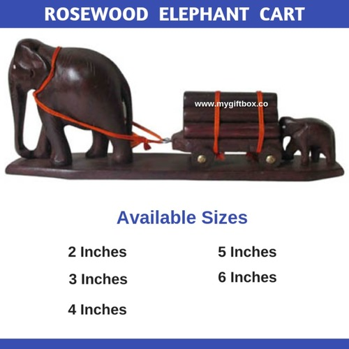 Rosewood Elephant  Cart