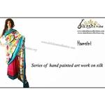 DKC1SKA2 - MUV066 - Hand painted Silk Saree