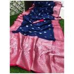 DSS04-  Soft Silk saree with silver zari border
