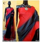 DKS05-  Khadi Raw silk Sarees