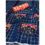 DMC01 - Modal cotton chex with banglori silk blouse