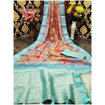 DJL12-  Jacquard Linen Silk Sarees