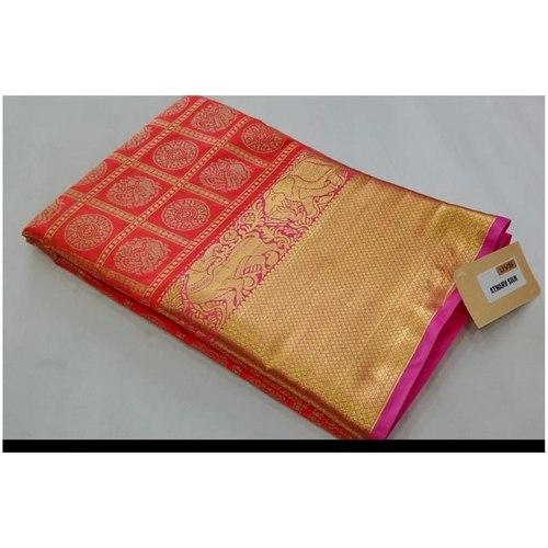 DKKS02 - Kanchipuram look alike woven silk saree with rich pallu