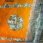 Block printed cut work salwar suit