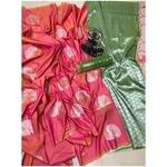 DLJ07-  Lilchi Silk Jacquard woven Saree