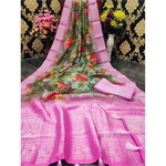 DJL05-  Jacquard Linen Silk Sarees