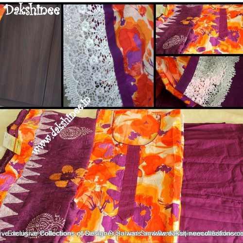 MCO003 - Summer Floral printed cotton sawar suit