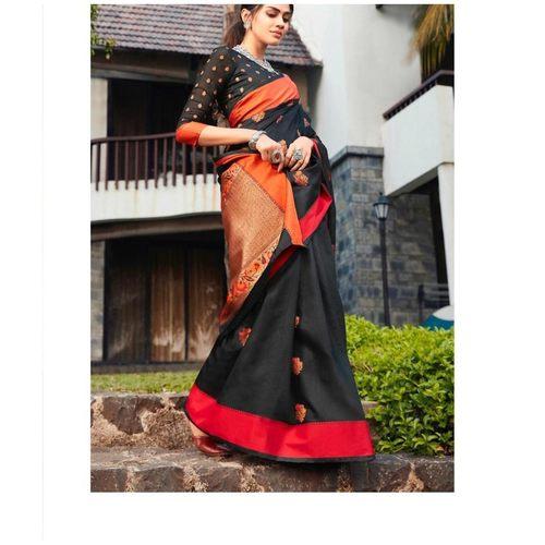 DKKS20 - Soft linen silk with Minakari work
