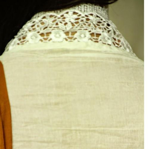 OCW002A - Karachi Embroidered Organdi cotton Salwar suit