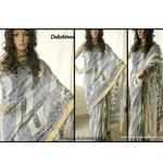 Block printed kerala cotton saree