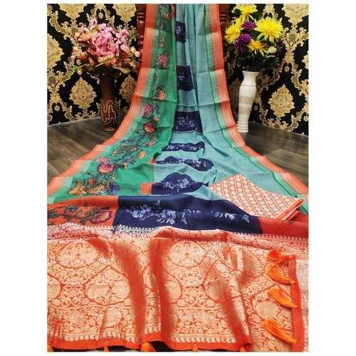 DJL11-  Jacquard Linen Silk Sarees