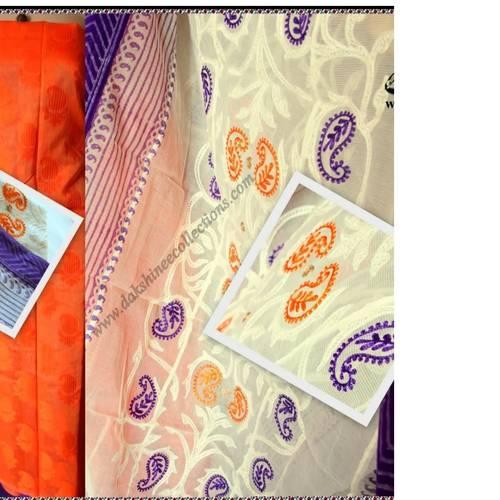 Benarasi brocaded top with heavy embroidered dupatta