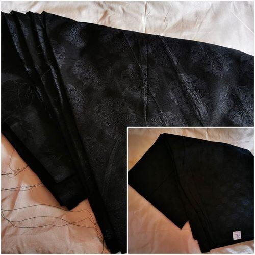 208 - Soft Selfprinted Silk cotton fabric