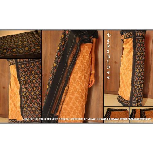 KC1COA8-PCB011-P - Handloom Pochampalli cotton saree