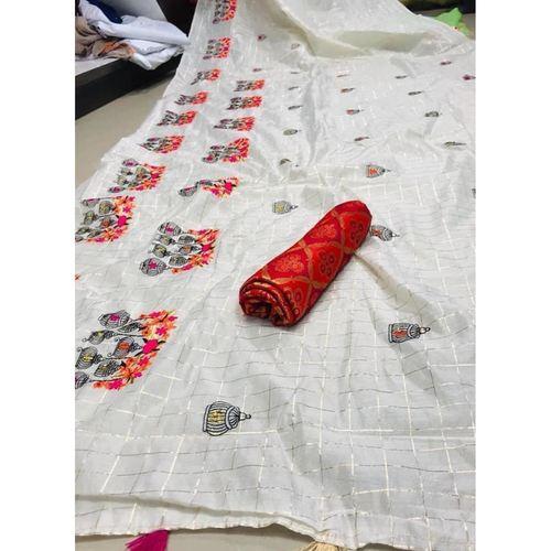 DMC05 - Modal cotton chex with banglori silk blouse