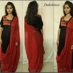 Block printed  and embroidered cotton Salwar Suit