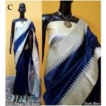 DKS02-  Khadi Raw silk Sarees