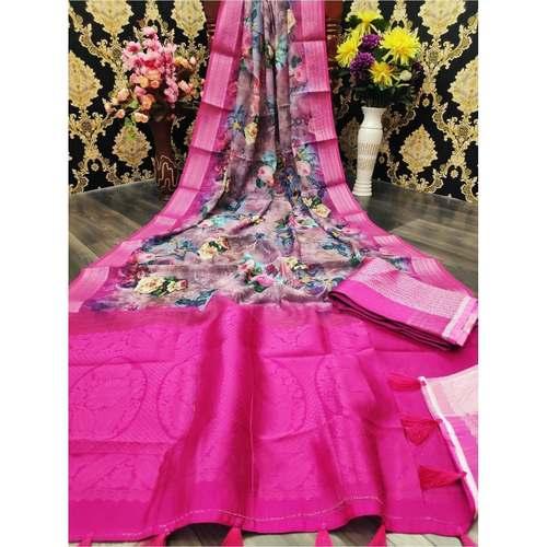 DJL06-  Jacquard Linen Silk Sarees