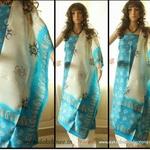 Block printed murshidabad Silk Salwar Suit