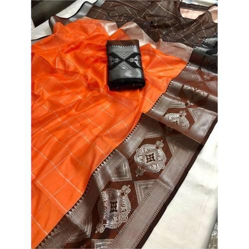DLS11-  Lichi Silk with jacqard weave pallu