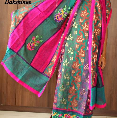 DKC2SCA10-SCV002-P - Benarasi brocaded Silk cotton Salwar suit