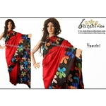 DKC1SKA2-MUR065 - Hand painted Silk saree