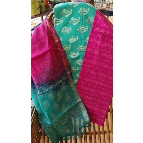 Block Printed Kota Doriya Suit